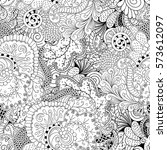 tracery seamless calming...   Shutterstock .eps vector #573612097