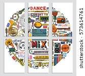 vector cards  notes and banners ... | Shutterstock .eps vector #573614761