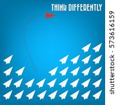 think differently   being... | Shutterstock .eps vector #573616159