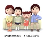 3d illustration  mother  father ... | Shutterstock . vector #573618841