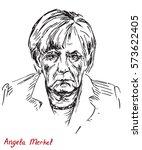 angela dorothea merkel... | Shutterstock .eps vector #573622405