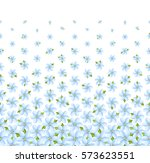 floral pattern  horizontal ... | Shutterstock .eps vector #573623551