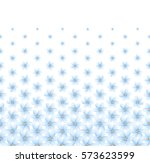 floral pattern  horizontal ... | Shutterstock .eps vector #573623599