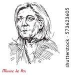 marine le pen  french...   Shutterstock .eps vector #573623605