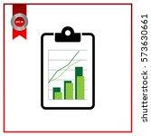 flat business office clipboard... | Shutterstock .eps vector #573630661