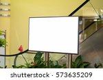 blank advertising billboard at... | Shutterstock . vector #573635209