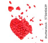broken heart 3d illustration | Shutterstock . vector #573640639