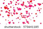 hearts on white background 3d... | Shutterstock . vector #573641185