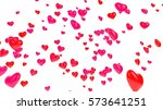 hearts background 3d... | Shutterstock . vector #573641251