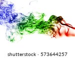 colored smoke isolated on white ... | Shutterstock . vector #573644257