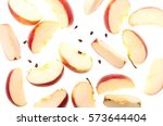 Slices Of Fresh Red Apple And...