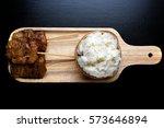 thai traditional food pork...   Shutterstock . vector #573646894