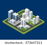 isometric urban city | Shutterstock . vector #573647311