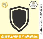 shield  protection icon | Shutterstock .eps vector #573647575