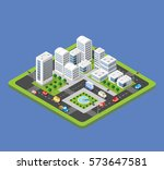 isometric urban city | Shutterstock . vector #573647581