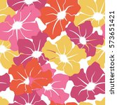 seamless pattern with large... | Shutterstock .eps vector #573651421