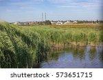 rainham marshes  essex  england ... | Shutterstock . vector #573651715