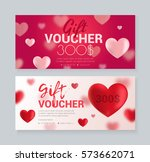a set of vouchers for a holiday ... | Shutterstock .eps vector #573662071