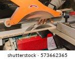 men at work sawing wood....   Shutterstock . vector #573662365