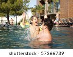 father having fun on vacation... | Shutterstock . vector #57366739