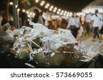 garbage at the festival with... | Shutterstock . vector #573669055