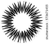 asymmetric edgy circular shape... | Shutterstock .eps vector #573671455