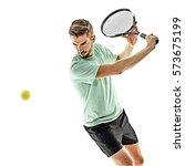 one caucasian  man playing... | Shutterstock . vector #573675199