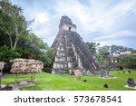 tikal  guatemala   january 21 ... | Shutterstock . vector #573678541
