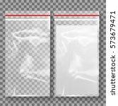 empty transparent plastic... | Shutterstock .eps vector #573679471