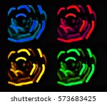 the colorful rose flowers from... | Shutterstock . vector #573683425