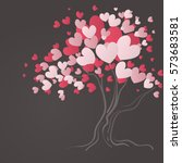 love tree with heart leaves | Shutterstock .eps vector #573683581