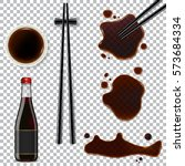 soy sauce isolated on... | Shutterstock .eps vector #573684334