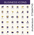 business services and finance... | Shutterstock .eps vector #573684745