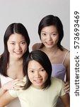 three young women  portrait | Shutterstock . vector #573693469