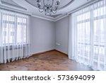 elegant interior design with... | Shutterstock . vector #573694099