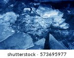 blue ice. color photo. | Shutterstock . vector #573695977