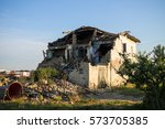 Ruins Of Old House Damaged By...