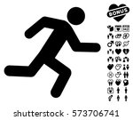 running man pictograph with... | Shutterstock .eps vector #573706741