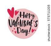 valentine's day lettering | Shutterstock .eps vector #573711205