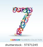 Number Seven Made From Colorfu...