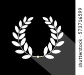 laurel wreath award black | Shutterstock .eps vector #573716599
