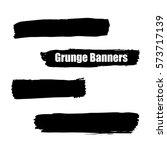 vector template set of grunge... | Shutterstock .eps vector #573717139