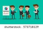 business man cartoon vector | Shutterstock .eps vector #573718129