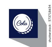 cola drink icon vector... | Shutterstock .eps vector #573718654