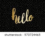 typographic design greeting... | Shutterstock .eps vector #573724465