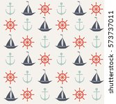 seamless vector pattern of... | Shutterstock .eps vector #573737011