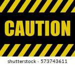 Caution Sign Background. Black...