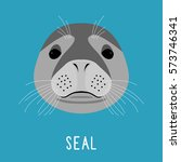 Abstract Cartoon Seal Portrait...