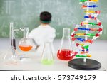 chemicals beaker and flask n... | Shutterstock . vector #573749179