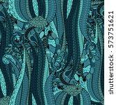 tracery seamless calming... | Shutterstock .eps vector #573751621